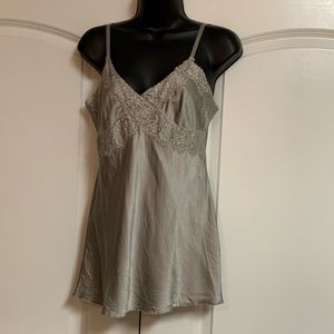 Express 100% Silk Beige Lace Camisole S